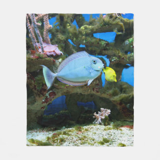 Sea Blue Fish Fleece Blanket