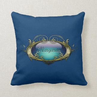 Sea blue personalized American MoJo Pillow Throw Cushions