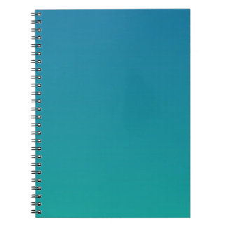 Sea Blue to Light Sea Green Horizontal Gradient Spiral Notebook