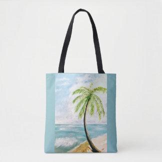 Sea Breeze Palm Tote Bag