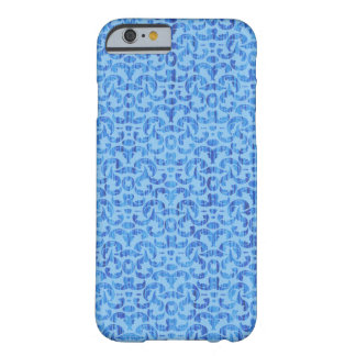 Sea Breezes Elegant Blue and Aqua Beach Damask Barely There iPhone 6 Case