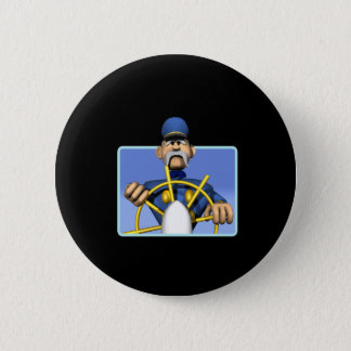Sea Captain 6 Cm Round Badge