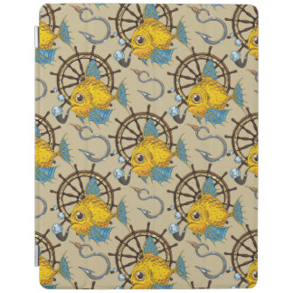 Sea Captain Fish Pattern iPad Cover