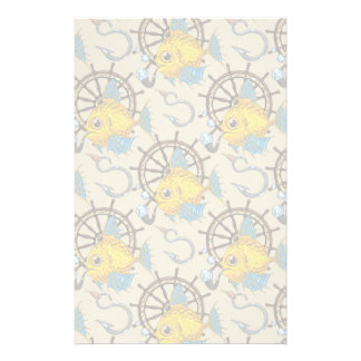 Sea Captain Fish Pattern Stationery
