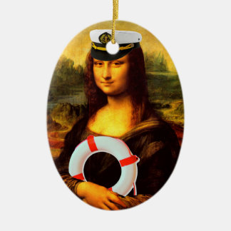 Sea Captain Mona Lisa Christmas Ornament