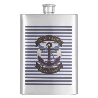 Sea captain sailor personalized flask