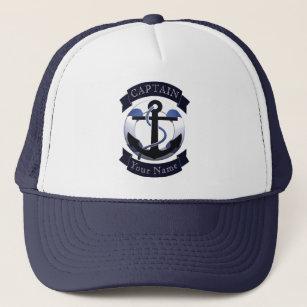 Sea captain sailor personalized trucker hat