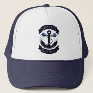 Sea captain sailor personalized trucker hat