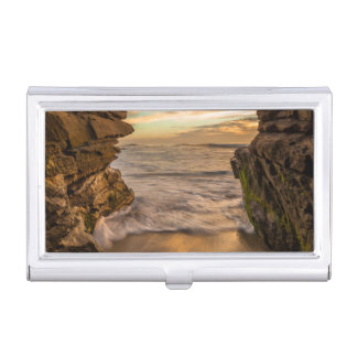 Sea cave at Windansea Beach Business Card Holder
