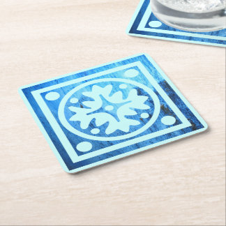 Sea Cave Wall Tile Square Paper Coaster