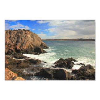 Sea Cliff and Rocky Coast, Jamestown, Rhode Island Photo Print
