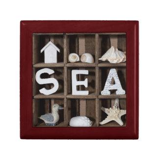 Sea Collection Small Square Gift Box