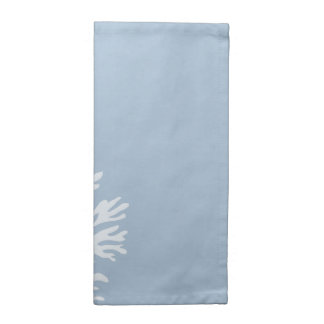 Sea Coral Silhouette (Weathered Blue) Napkin