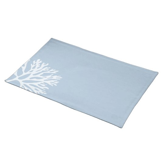 Sea Coral Silhouette (Weathered Blue) Placemat