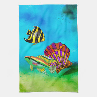 Sea Creations Mixed Media Tea Towel