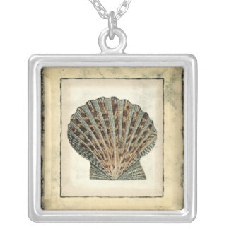 Sea Creatures by the Shore Silver Plated Necklace