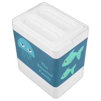 Sea Creatures custom cooler Igloo Cooler