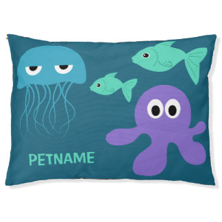 Sea Creatures custom dog beds