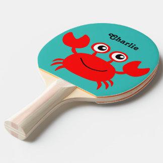 Sea Creatures custom monogram ping pong paddle