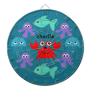 Sea Creatures custom name dart board