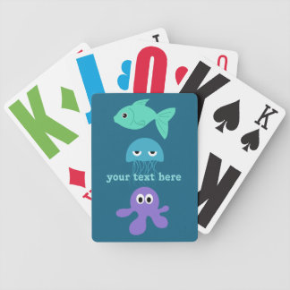 Sea Creatures custom playing cards