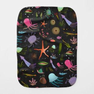 Sea Critters Pattern Burp Cloth