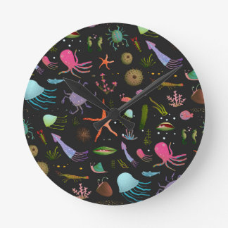 Sea Critters Pattern Clock