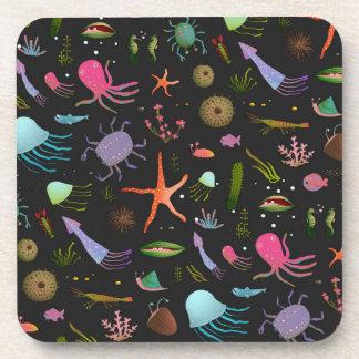 Sea Critters Pattern Coaster