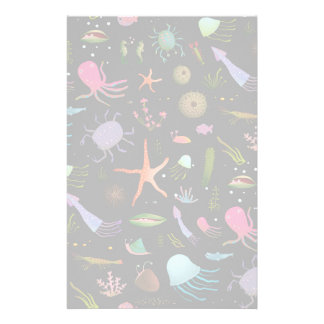 Sea Critters Pattern Custom Stationery