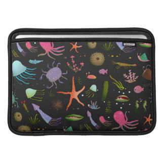 Sea Critters Pattern MacBook Sleeve