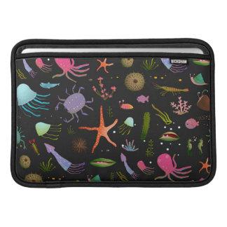Sea Critters Pattern MacBook Sleeve