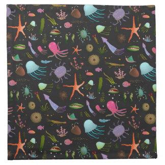 Sea Critters Pattern Napkin