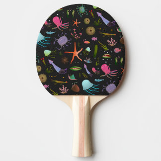 Sea Critters Pattern Ping Pong Paddle