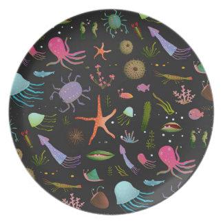 Sea Critters Pattern Plate