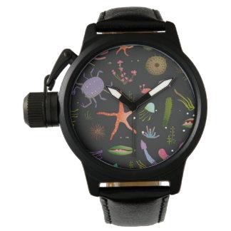 Sea Critters Pattern Wristwatches