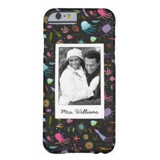 Sea Critters Pattern | Your Photo & Name Barely There iPhone 6 Case
