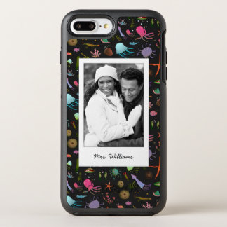 Sea Critters Pattern | Your Photo & Name OtterBox Symmetry iPhone 7 Plus Case