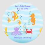 SEA CRITTERS Under Sea Baby Shower Favour Sticker
