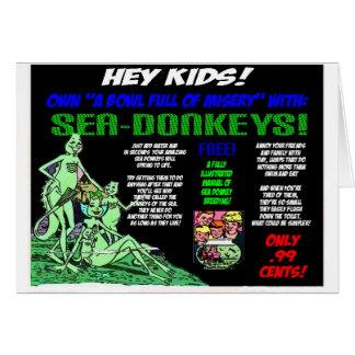 Sea Donkeys Greeting Card