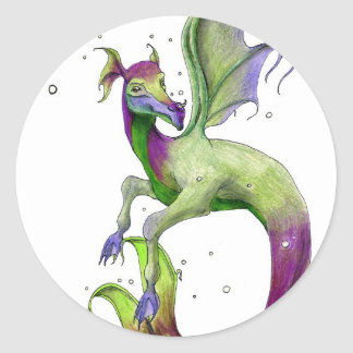 Sea Dragon by April Robbins Round Sticker