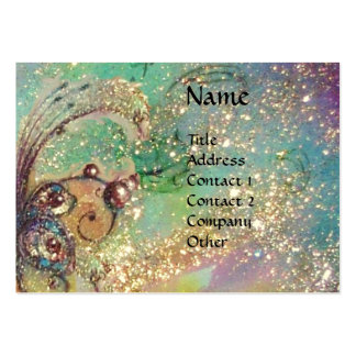 SEA DRAGON ,/ MAGIC BUTTERFLY PLANT,teal Business Cards