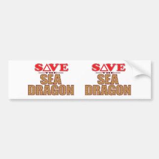 Sea Dragon Save Bumper Sticker