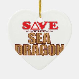 Sea Dragon Save Christmas Ornament