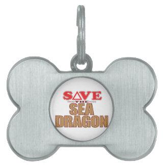 Sea Dragon Save Pet Tag