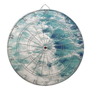 Sea foam dartboard with darts