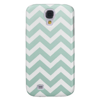 Sea Foam Green Ombre Chevron Galaxy S4 Case