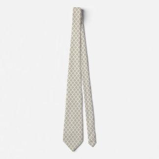 Sea Foam White Quatrefoil Pattern Ties For Men