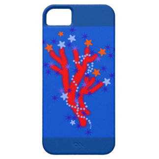Sea Gesign,Red Coral,Blue. Case For The iPhone 5