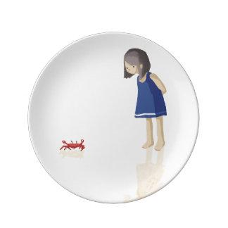 Sea girl plate