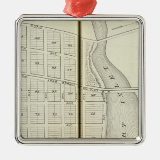Sea Girt and Spring Lake Beach, Monmouth County Silver-Colored Square Decoration